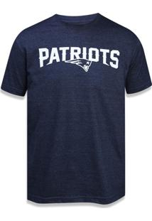 Camiseta New Era Raglan New England Patriots Mescla Marinho
