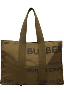 Burberry Bolsa Tote De Nylon Com Estampa Horseferry - Verde