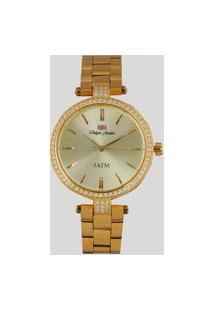 Relógio Analógico Philiph London Feminino - Pl81008145F Dourado