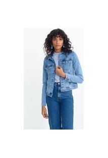 Jaqueta Jeans Básica De Moletom | Marfinno | Azul Claro | P