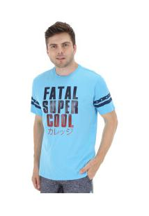 Camiseta Fatal Estampada 20405 - Masculina - Azul