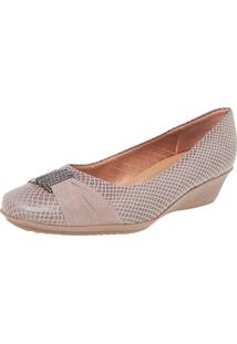 Scarpin Piccadilly Anabelinha Bege