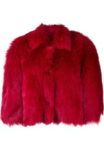 Red Valentino Jaqueta Oversized Cropped - Vermelho