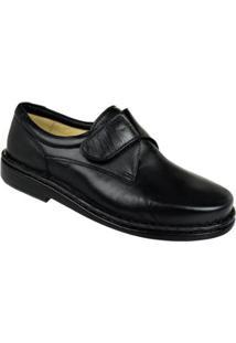 Sapato Conforto Opananken Velcro Masculino - Masculino-Preto