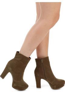 f01d2578f Ankle Boot Com Salto Vinho feminina | Gostei e agora?