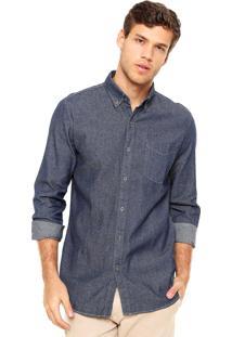 Camisa Jeans Broken Rules Bolso Azul