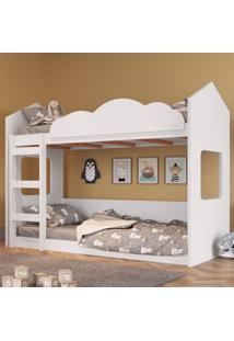 Beliche Montessoriano Casinha Com Escada Completa Móveis Branco