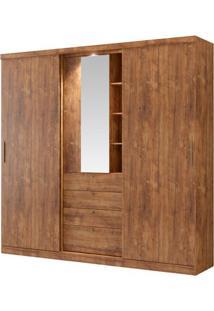 Guarda-Roupa Zeus Com Espelho - 2 Portas - Native