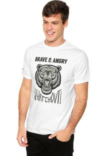 Camiseta Fiveblu Manga Curta Whatch Out Branca