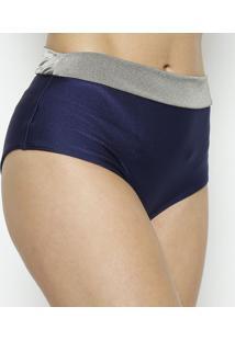 Calcinha Hot Pant Lisa- Azul Marinho & Cinza- Danieldaniela Tombini