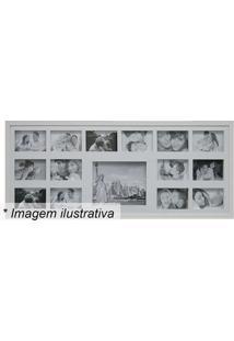 Painel Para 15 Fotos- Branco- 43X103X3Cmkapos