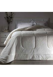 Cobertor Dupla Face Extramacio King Duo Blanket Branco - 100% Poliéster - Kacyumara