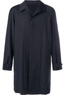 Z Zegna Trench Coat Liso - Azul