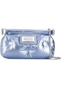 Maison Margiela Logo Quilted Clutch - Roxo