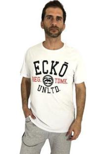 Camiseta Ecko Manga Curta Masculina - Masculino-Branco