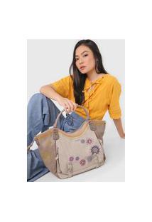 Bolsa Desigual Shoulder Bag Ada Bege