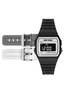 Relógio Digital Mormaii Troca Pulseira Unissex - Mojh02Am/4B Preto