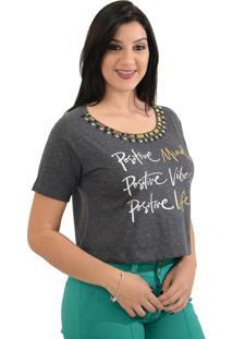T-Shirt Energia Fashion Positive Preto