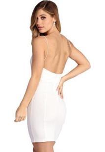 Vestido Rioutlet Tubinho Gabi - Feminino-Branco
