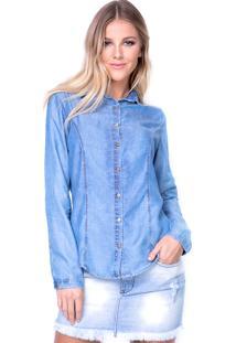 Camisa Lança Perfume Básica Delavé Azul