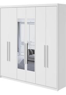 Guarda Roupa Libra 6 Portas Com Espelho Branco