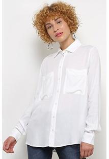 Camisa Colcci Manga Longa Feminina - Feminino-Off White