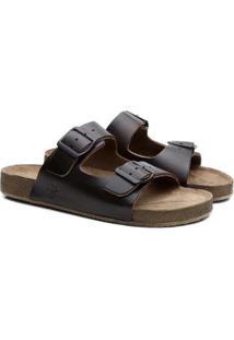 Sandália Birken Masculina Couro Conforto Leve Black Boots - Unissex-Preto+Marrom