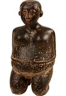 Escultura Decorativa De Resina Buddha Ii
