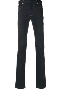 Dior Homme Calça Jeans Reta - Azul