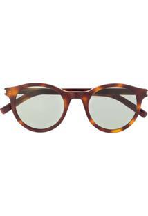Saint Laurent Eyewear Óculos De Sol Sl 317 Signature - Marrom