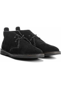 Sapato Casual Couro Kildare Camurça Masculino - Masculino-Preto