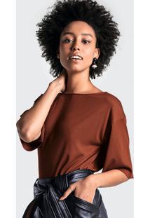 Blusa Em Malha De Viscose Com Abertura Nas Costas