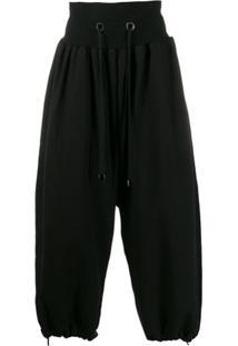 Fumito Ganryu Drawstring Oversized Trousers - Preto
