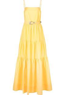 Nicholas Vestido Kerala Com Amarração - Amarelo