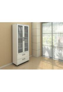 Estante Livramento 2354 Porta De Vidro Cor Branco - 10491 - Sun House
