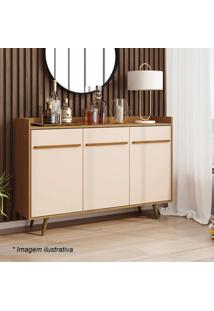 Aparador Buffet Quartzo- Cinamomo & Off White- 97X13Bechara