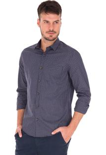 Camisa Manga Longa Side Walk Camisa Vichy Fio 50 Marrom