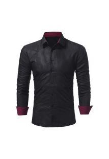 Camisa Social Masculina Slim 1399-5230 - Preta