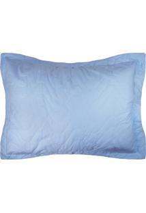 Porta Travesseiro Percal 300 Fios 50X70- Azul - Appel - Tricae
