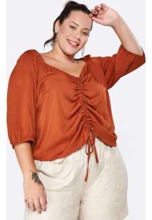 Blusa Almaria Plus Size Tal Qual C/ Colissê E Mang