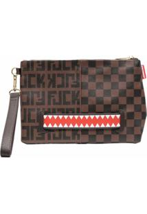 Sprayground Split The Check Clutch - Marrom