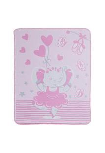 Cobertor Estampa Localizada Encanto - Elefante Bailarina Bambi
