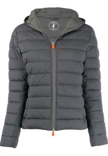 Save The Duck Padded Hooded Jacket - Cinza