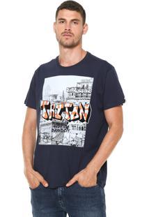 Camiseta Triton Estampada Azul-Marinho