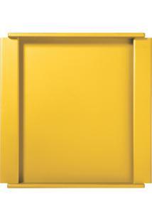 Bandeja Quadrada Amarela - Cor Amarelo