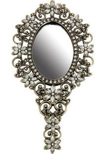 Espelho Pedraria De Mão Champanha Trevisan Concept