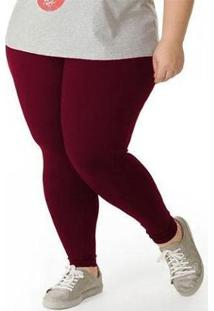 Çalça Legging Plus Size Feminina - Feminino-Vinho