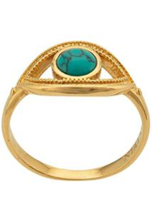 Nialaya Jewelry Eye Ring - Dourado