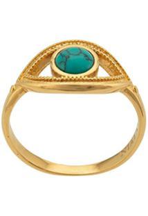 Nialaya Jewelry Eye Ring - Dourado