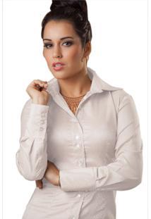 9b06417528 ... Camisa Paola Trevisol Jacquard Branca
